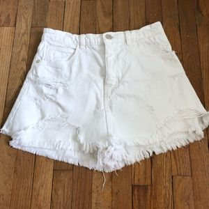 Zara White Denim Skort